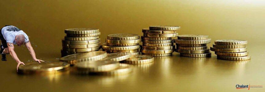 EURO munten schuiven