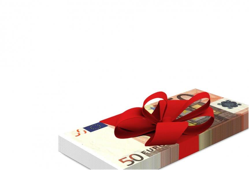 geld met strik gift cadeau